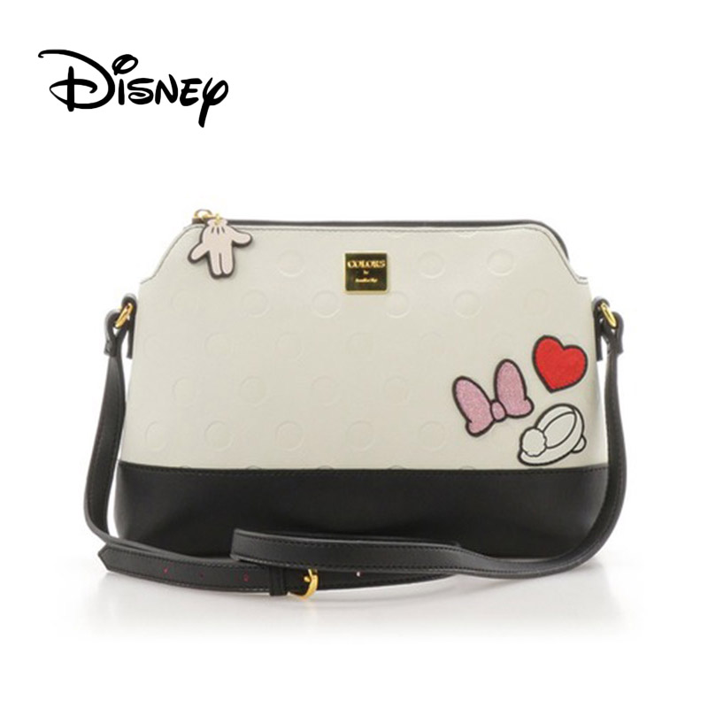 Disney Japanese Alice In Wonderland Mickey Minnie Mouse Women's Shoulder Messenger Bag Girl Travel Shell Bag Mobile Bags Fashion