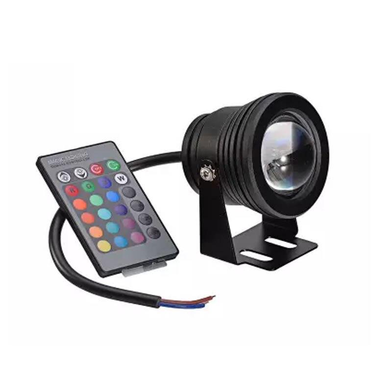 IP65 Watrproof דימר 10 w RGB LED ספוט אור 12 v גן כיכר חצר מבול מנורת עם IR מרחוק