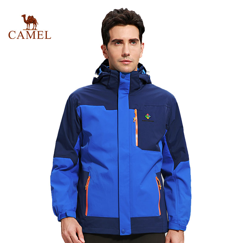 CAMEL X 8264 Men's Winter 3 in 1 Outdoor Jacket Thermal Waterproof Windproof Skiing Camping Hiking Snowboarding Male Jacket super thick thermal fleece warm man winter jacket waterproof windproof jacket skiing snowboarding climbing hiking camping jacket