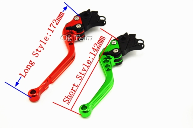 Short&Long For Kawasaki Z1000 2003 2004 2005 2006 ZZR600 2005 2006 2007 2008 2009 Motorcycle Adjustable CNC Brake Clutch Levers