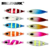 SEASHARK Slow Jigging Lures 40g 8 5cm Salt Water Fishing Lures 10 Color 10pcs Set Slow