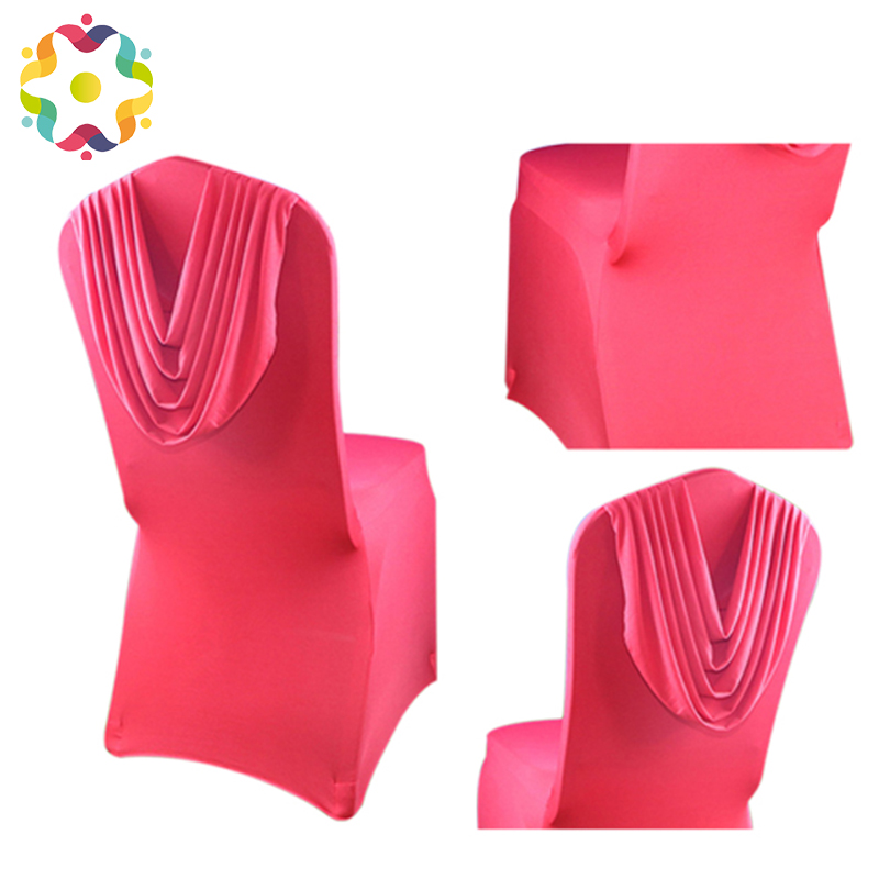 Good Selling Satin Back Self Tie Chair Cover Back Drooping White Satin Universal Chair Cover For Wedding Events Party Decoration