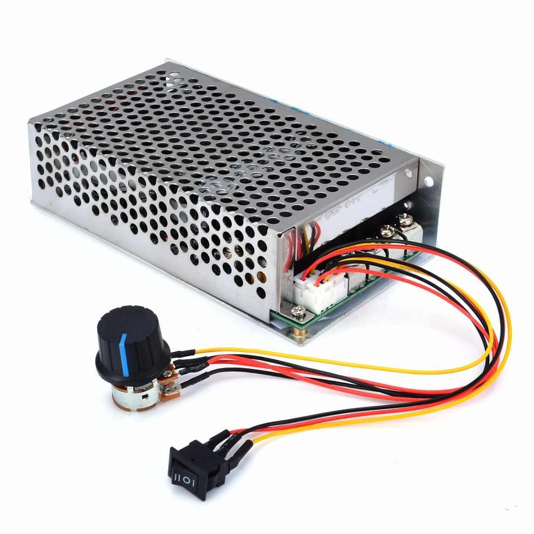 1pc DC 10-50V PWM moteur régulateur de vitesse 100A 3000W programmable contrôle réversible