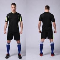 Sport jersey 2017 männer fußball jerseys sets 2016 kids fußball-kits fußball trainingsanzug paintless fußball trikots trainingsanzug L