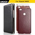 Para xiaomi mi max couro phone case capa protetora para xiaomi mi max imuca marca de telefone shell habitação case com sacos de varejo