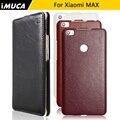 Para xiaomi mi max leather case cubierta protectora del teléfono para xiaomi mi max teléfono de vivienda shell case imuca marca con bolsos al por menor