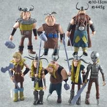 8pcs/set 10-13cm Dragon 2 Figurines PVC Action Figures Classic Toys Kids Gift For Boys Girls Children