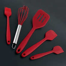 5pcs BBQ Set Multifunctional Silicone Cooking Tools Kitchen Utensils  in Hygienic Solid Coating cookware