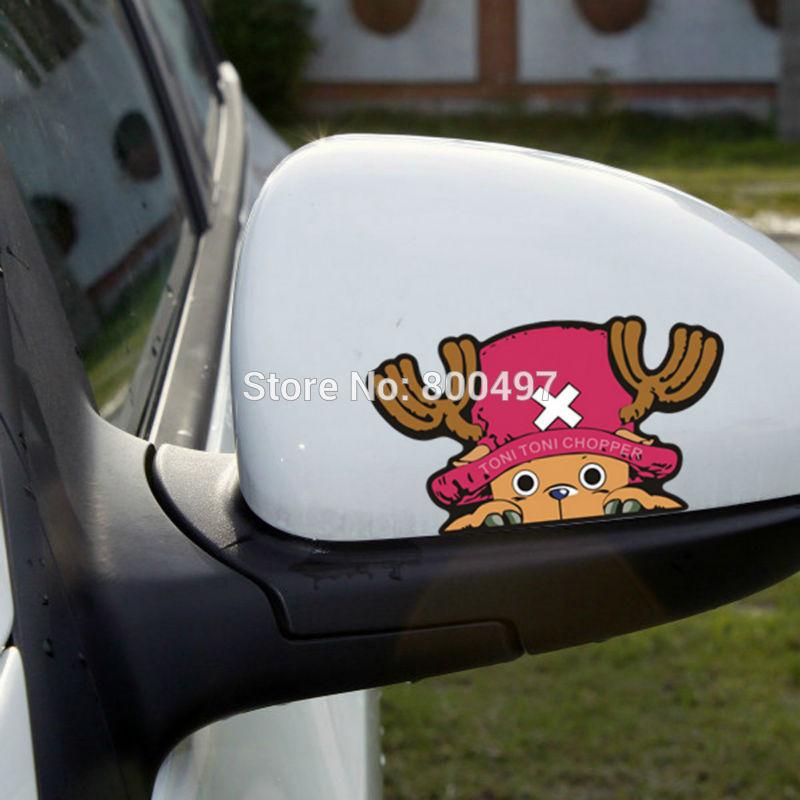 10 X Funny Car-styling Car Sticker One Piece Tonny Chopper Flying Decal For Ford Chevrolet Vw Honda Hyundai Peugeot Skoda Mazda