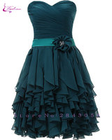 Waulizane Elegant Chiffon A Line Strapless Prom Dresses Zipper Tassel Formal Dresses 4 Colors Available Customs