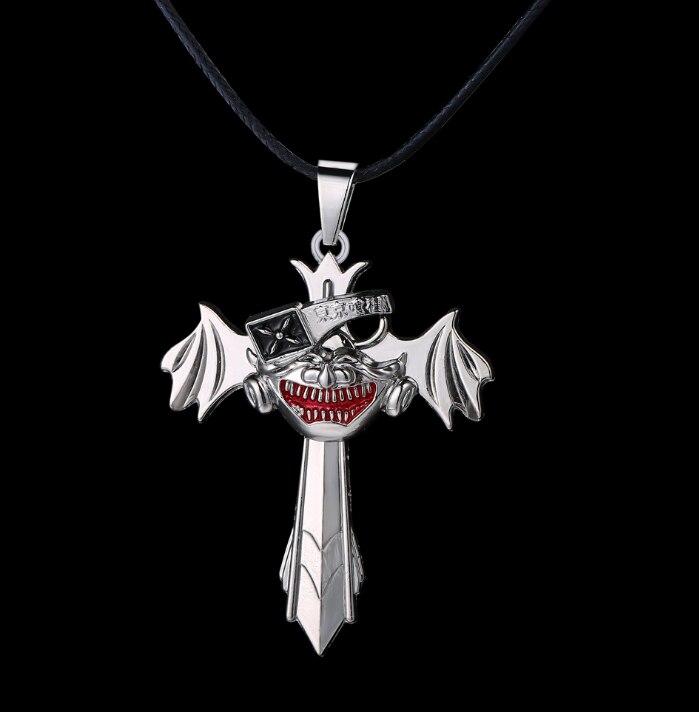 1 ชิ้น/เซ็ตใหม่หน้ากาก Tokyo Ghoul Cross Wing จี้สร้อยคออะนิเมะคอสเพลย์ของเล่นคอลเลกชัน