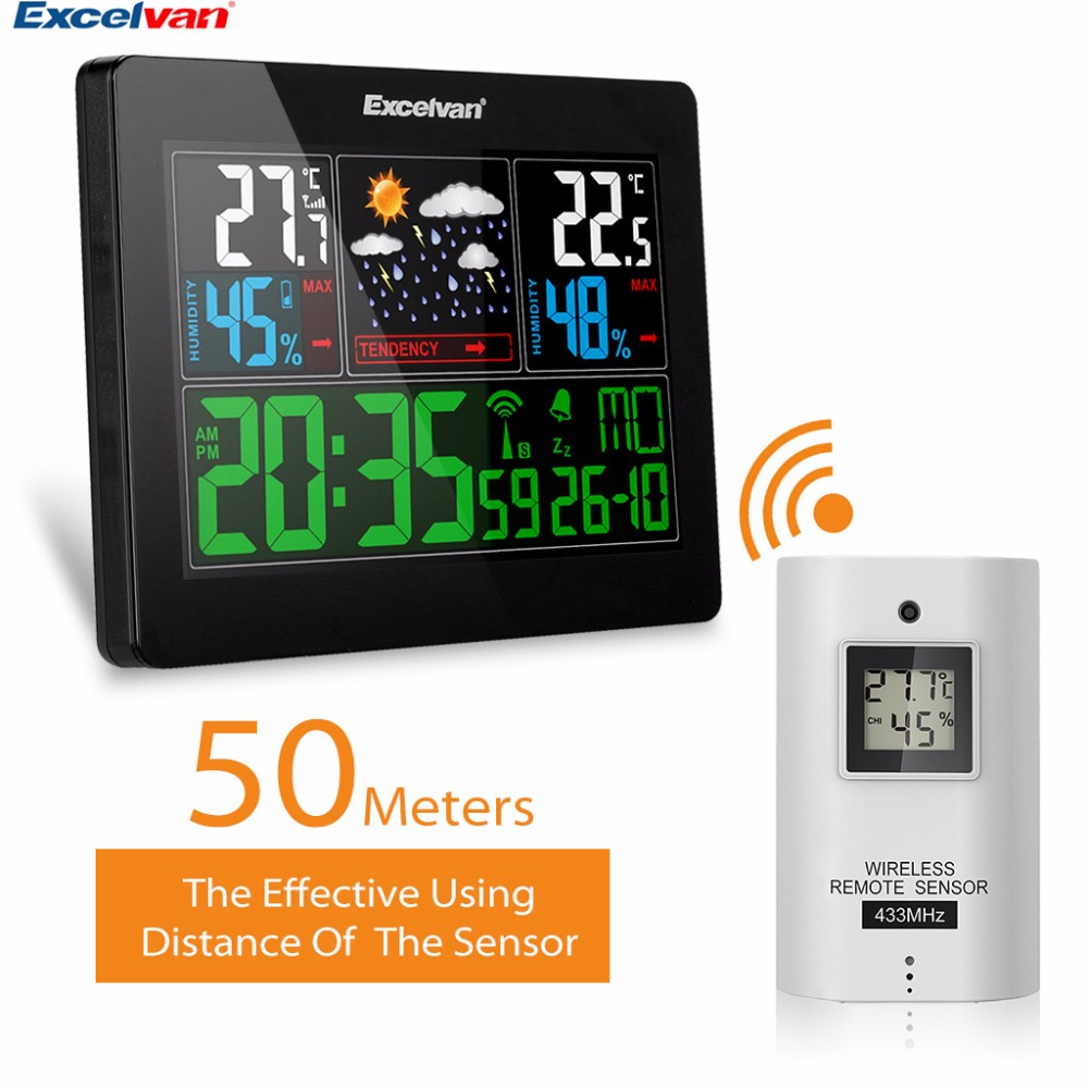 Thermometre Exterieur Sans Fil Excelvan Weather Station Wireless Thermometer Hygrometer