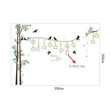 [Fundecor] 205*290cm/81*114in large photo tree Wall Stickers home decor living room bedroom 3d wall art decals diy family murals