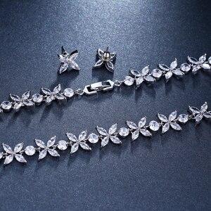 Image 3 - Emmaya цирконы потрясающие кристаллы ожерелье и серьги роскошный свадебный набор ювелирных изделий для вечеринки свадебный вечерний подарок