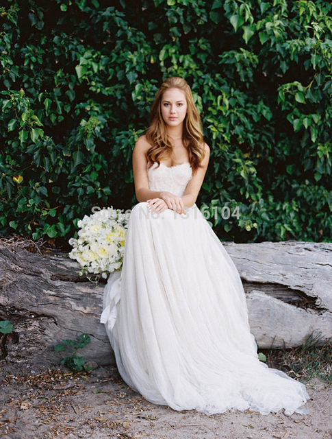 2016 New Hot Sell Bohemia Bridal Gown Women Sweetheart Long Floor ...