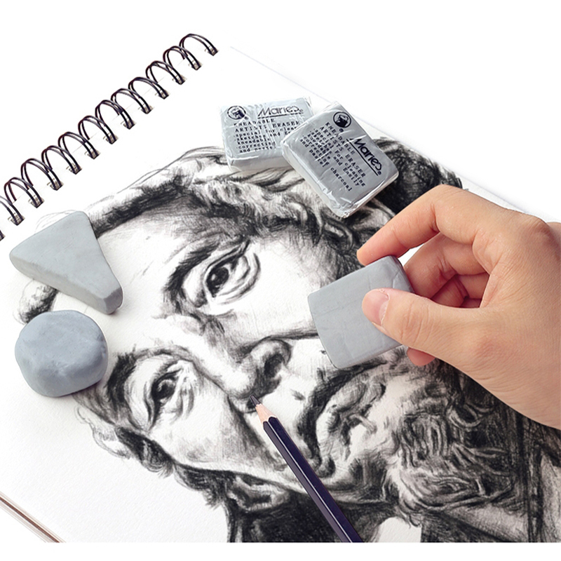 2pcs Maries Plasticity Rubber Soft Eraser Wipe Highlight Kneaded Rubber For Art Painting Design Sketch Drawing Stationery