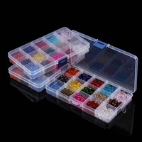 15 Colors Mixed 4mm 6mm 8mm Women Fashionable Round Crystal Glass Quartz Spacer Beads Box Set