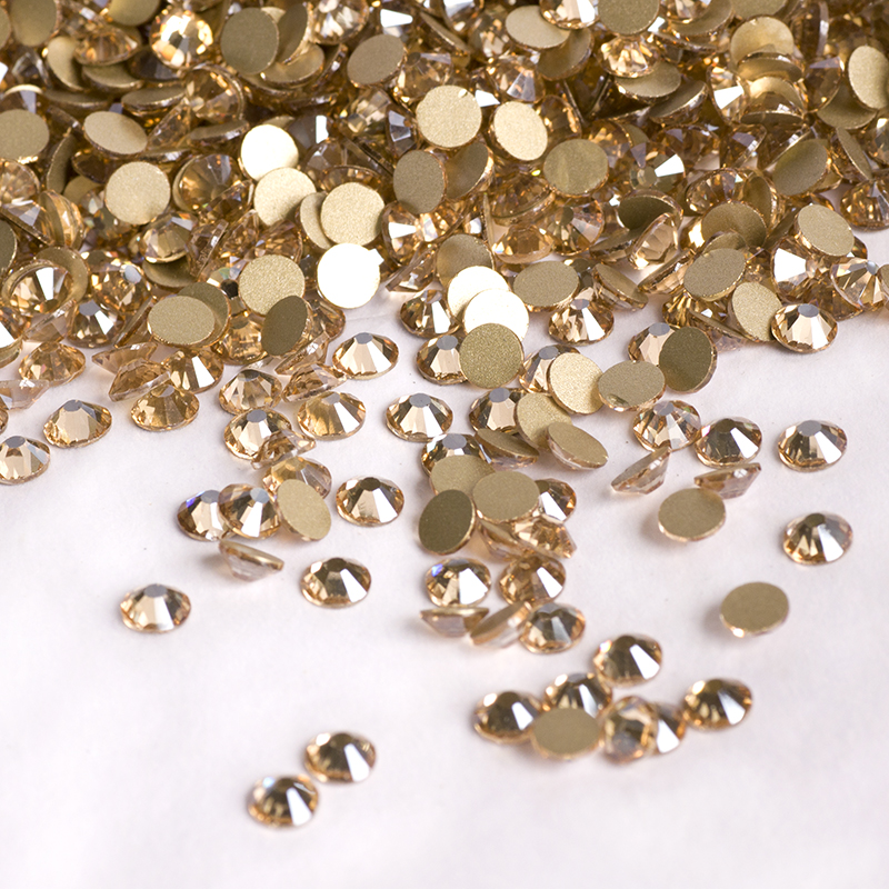 2058NoHF 1440PCS Golden Shadow Rhinestones for Nails Art Crafts Strass DIY Colorful Charm Nail Beauty Decoration Accessories  100pcs 6 color choices resin flowers nail art decoration diy charm 3d unha nails accessories bl59