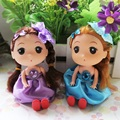 New12 pcs/lot 12cm Mini Cute Doll Cartoon Bouquet Materials Handicrafts Accessories Wedding Gifts Girls Valentine's Day Gift