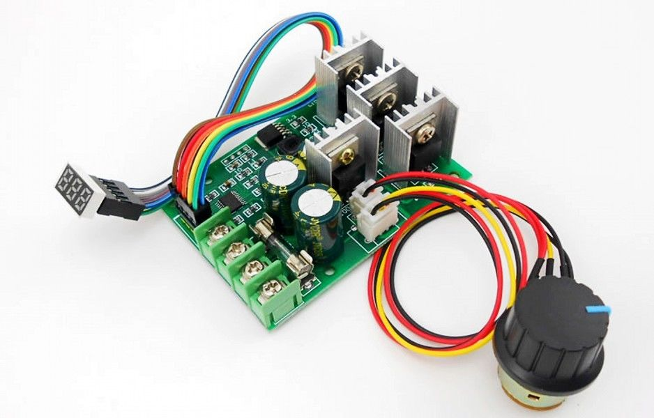 DC Motor Driver Controller PWM DC 6V-60V 30A Motor Regulator with A Digital Display
