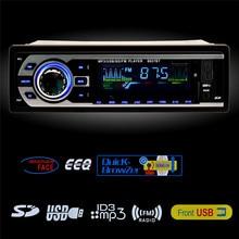 Bluetooth Car Audio Reproductor de MP3 Estéreo En El Tablero de Un Dinar de Radio FM Entrada Aux del receptor Receptor Cargador de Coche Reproductor de MP3 de Tarjeta SD USB