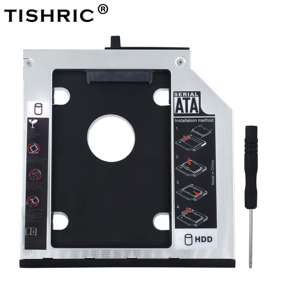 TISHRIC 9.5mm SATA 3.0 HDD Caddy Case Box HDD 2.5 SSD Case Enclosure For Lenovo ThinkPad T400s T400 T410 T410s T420sT430s T500
