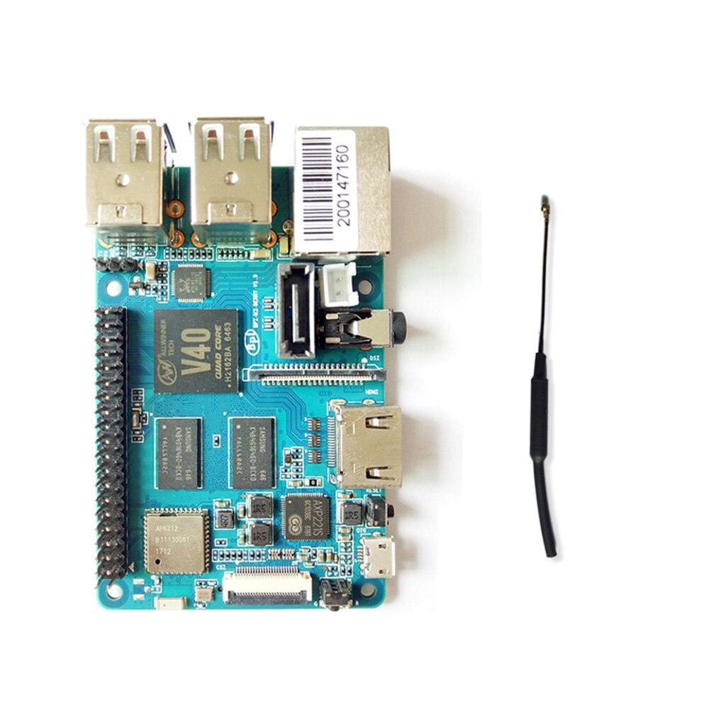 Banane Pi BPI M2 Berry Dual core Mali 400 MP2 GPU 1G LPDDR3 carte de développement Open-source, même taille que Raspberry Pi 3