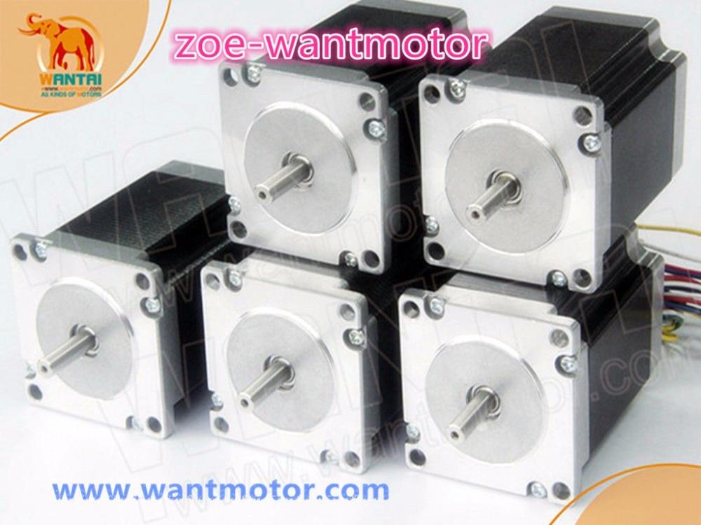 Best Selling! 5 Stks Nema 23 Wantai Stappenmotor 57bygh115-003 3.0a 425oz-in Ce Rohs Iso 3d-printer Robot Foam Plastic Metal