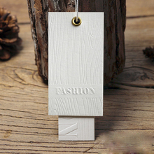 Customized Off-White Paper Card Embossed Seal Clothing Hang Tag