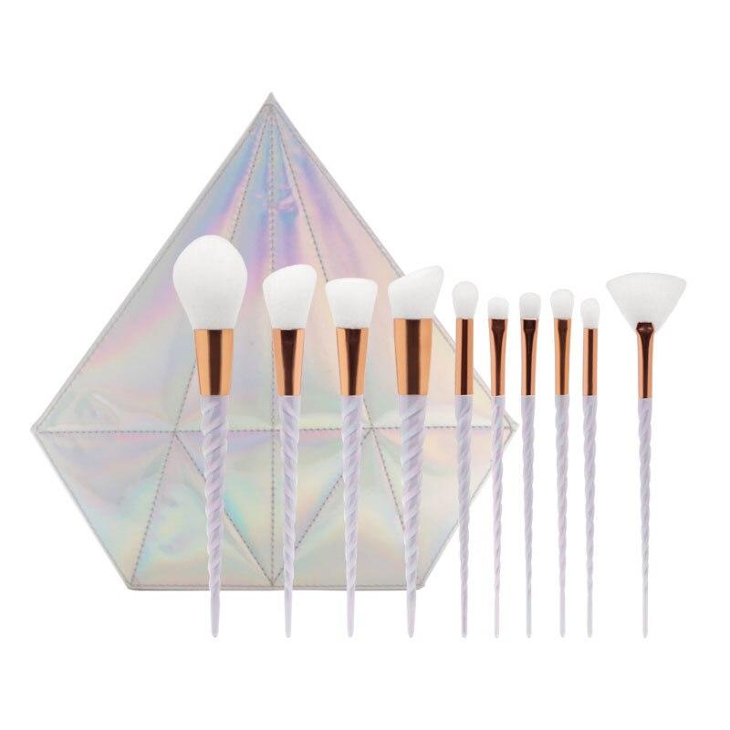 10 шт./пакет Sky голубые кисти для макияжа Shell Чехол комплект портативная косметичка инструменты для макияжа Кисти для макияжа бровей|Аппликатор теней для век| | АлиЭкспресс