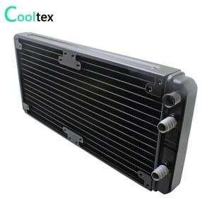 Image 2 - Refrigerador de refrigeração de água de alumínio do radiador de 280mm para o permutador de calor do laser da cpu gpu da microplaqueta do computador