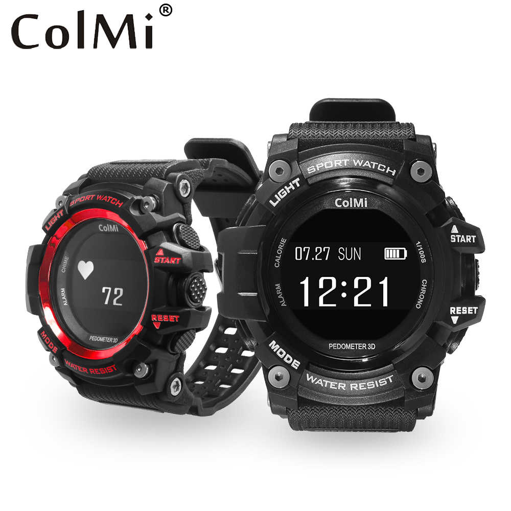 89d5fa59a6 ColMi T1 Smart Watch Waterproof IP68 Heart Rate Monitor Bluetooth 4.0  Outdoor Sport Clock For IOS
