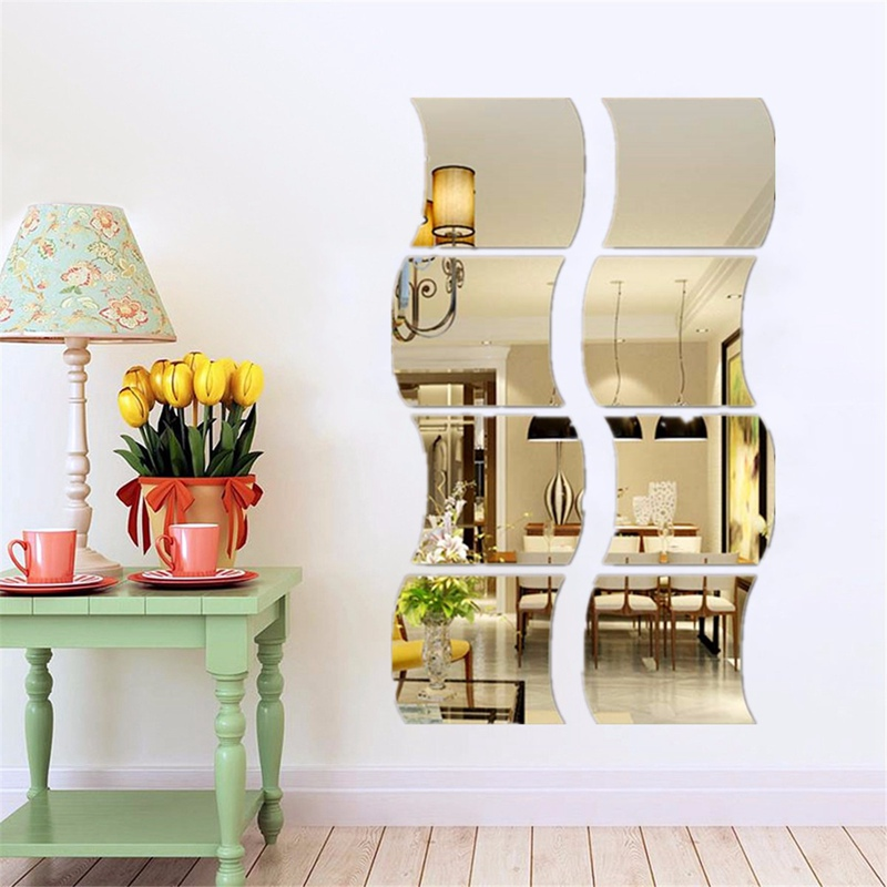 Special Offer DIY Removable Bathroom Child Home Room Dormitory Decoration  Wall Mirror Sticker Art Vinyl Mural