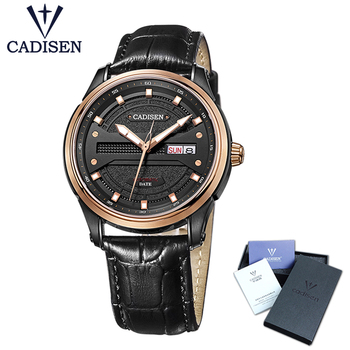 Cadisen Watch Men 2018 Top Brand Luxury Famous Male Clock  Leather strap Automatic Watch fashion Wrist watch Relogio Masculino Mechanical Watches