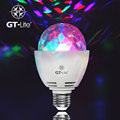 GT-Lite E27 3W Colorful Auto Rotating RGB LED Bulb Stage Light Party Lamp Disco for Home Decoration Bulb for Bar KTV Lighting