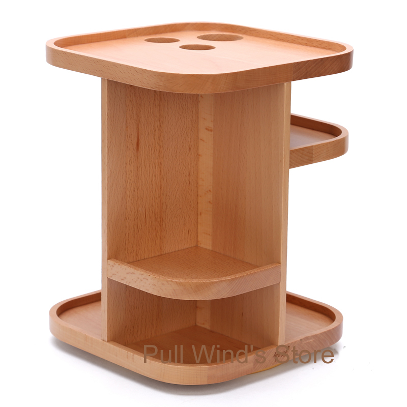 Exquisite wooden 360 rotation storage box Dressing table wood Storage Rack  Desktop cosmetic and small objects storage box in Underwear from Mother    Kids on. Exquisite wooden 360 rotation storage box Dressing table wood