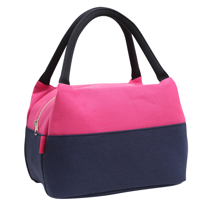 Canvas Lunch Bag Fashion Portable Small