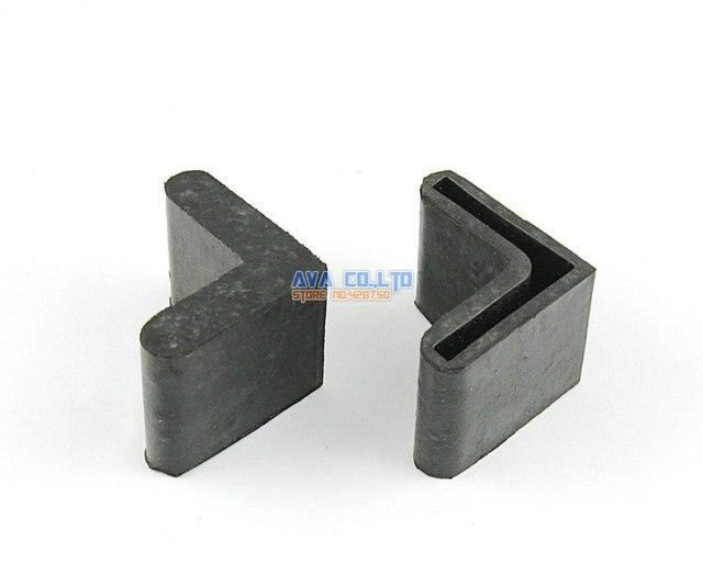 24 Stücke 25x25mm L Form Möbel Füße Gummi Abdeckung Winkel Füße Pad ...