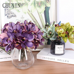 Image 3 - Artificial flowers 7 head orchid  home decoration hotel table fake flower decoration wedding bride bridesmaid holding bouquet