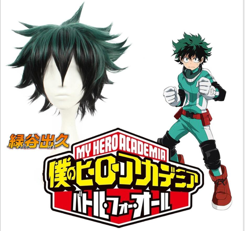 Home My Boku No Hero Academia Anime Izuku Midoriya Green Wig Cosplay Costume Wig Prop Refreshment
