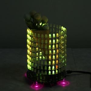 Image 5 - Светодиодный RGB светильник Dream Circle, DIY Kit, модуль музыкального спектра 8х32, электронный Точечный светильник, забавный светодиодный светильник, электронная матрица DIY