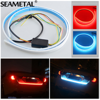 SEAMETAL Car Styling LED Light Rear Trunk Tail Lights Dynamic Streamer Brake Turn Signal Leds Warning