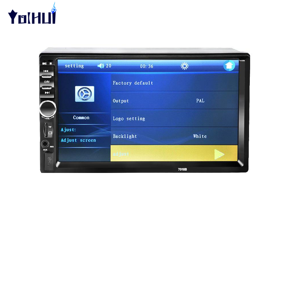7018B 7 inch 2 Din Car MP5 Player Touch Screen Bluetooth Audio Stereo Player with Rear View Camera Support TF AUX FM Radio 7018b universal 7 inch 2 din car audio stereo player touch screen car video mp5 player tf sd mmc usb fm radio hands free call