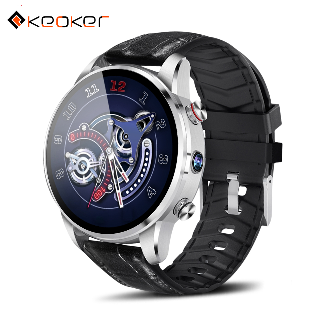 2019 Keoker Smartwatch Men 1 39inch 4G Support SIM Card WIFI GPS BLuetooth Android 7 1