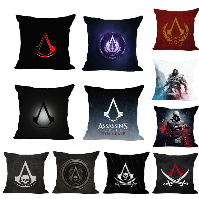 ASSASSINu0027S CREED Assassin Insignia Decorative Throw Pillow Cover Cushion  Moden Printed Game Pillowcase Home Decor Cojines