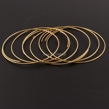 цены 16Ga 1.2mm Copper Wire 10inch/pcs Copper Coil dead soft Wire Wrapping Jewelry Wire Solid Copper Beading Cord Findings DIY