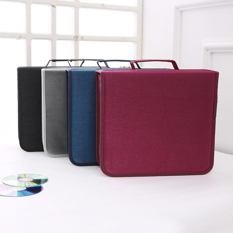 High Quality Handbag 256 Pieces CD/DVD Mercerized Cloth Protect Storage Large Carry Bag Holder Car Box