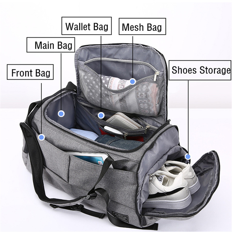 Multifunction Men Travel Bags Anti Theft Male Bag Portable Travel Duffel Bags for Man Large Capacity Shoulder Handbag Back Pack 2