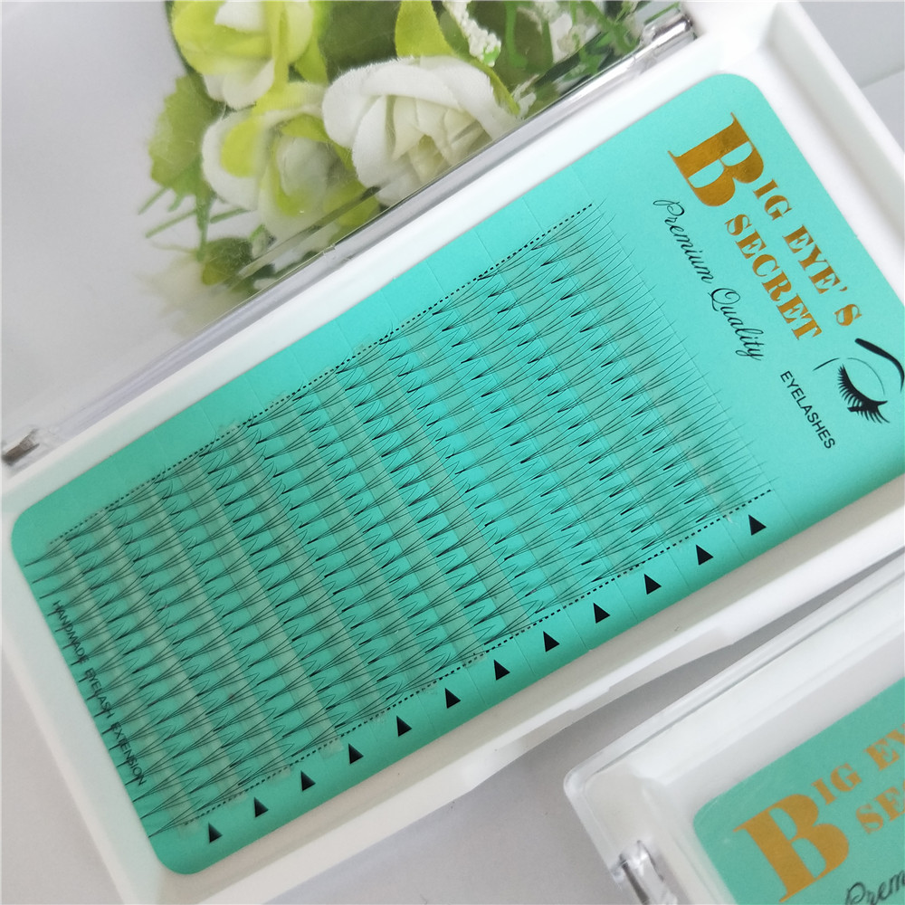 High Quality 3D Mink Lashes Premade Fans Individual False Eyelash Extension Thick Fake Eye lash 8mm to 15mm free shipping