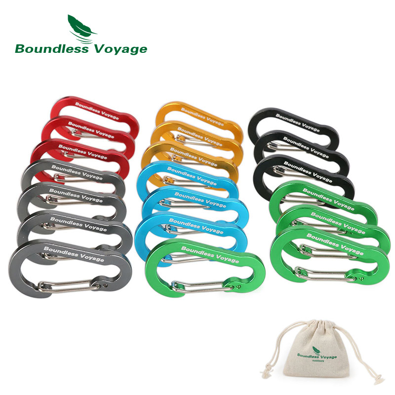 Boundless Voyage Outdoor Camping Multi-function Buckle Key Aluminum Alloy Climbing Carabiner Chain Backpack Hook BV1011 13 9cm aluminum alloy outdoor sports carabiner w sponge purple